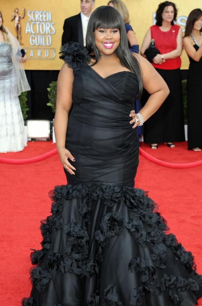 from the red carpet of the Screen Actors Guild awards(SAG) last weekend.