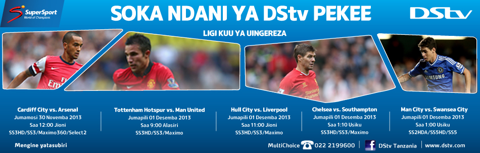 SuperSport- Key Live Events (EPL 30 Nov - 1 Dec 2013)- Blog Banner