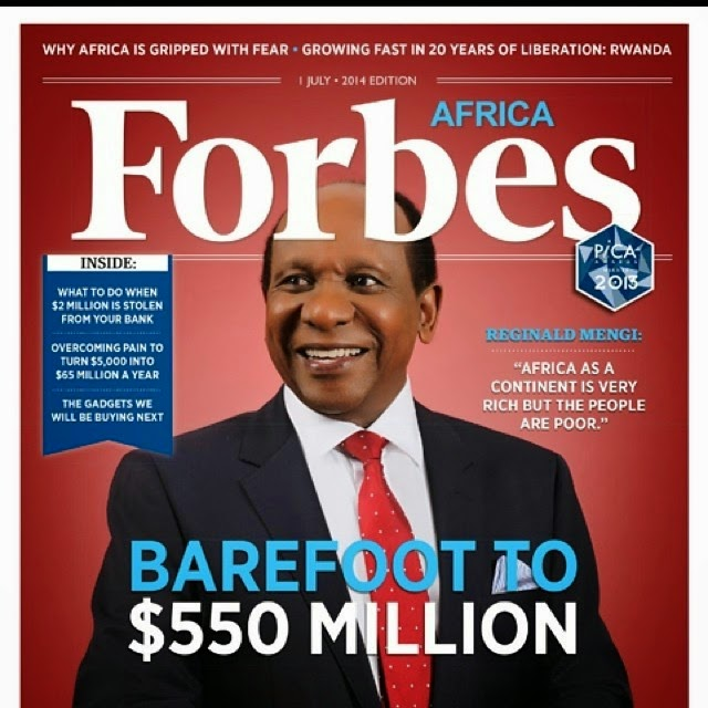 Tanzania's Millionare, Reginald Mengi. His wealthy is estimated to be $550M