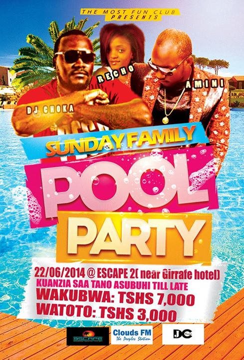 Family Pool Party at Escape