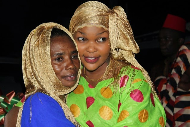 Wema Sepetu with her[ can we say that?] Mama Naseeb aka Diamond Platinumz during a surprise birthday party. Photo Credit; DJ Choka