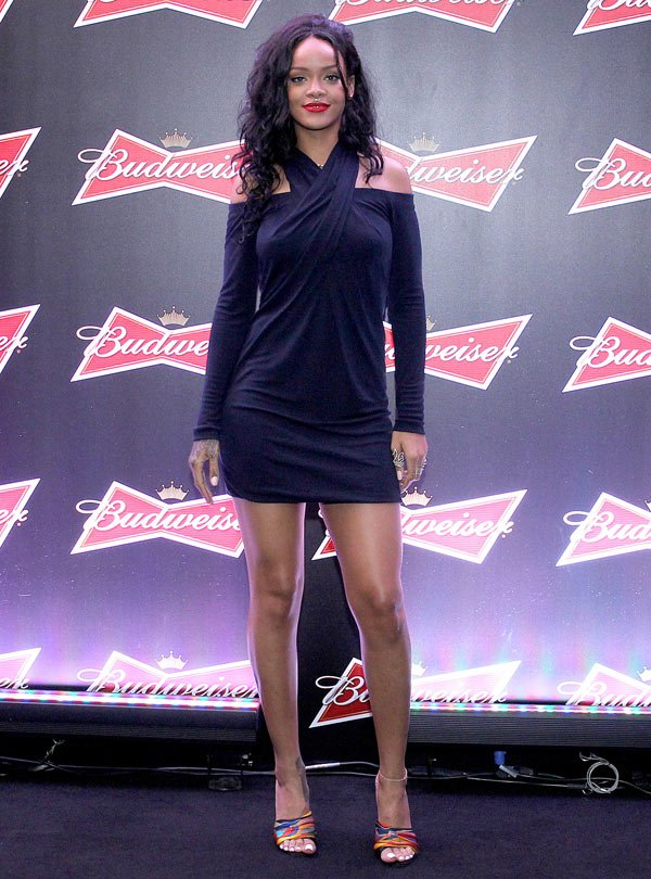RiRi at Budweiser Event in Brazil after World Cup