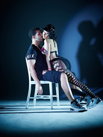 Nicki Minaj+Drake+Anaconda+LapDance+Video