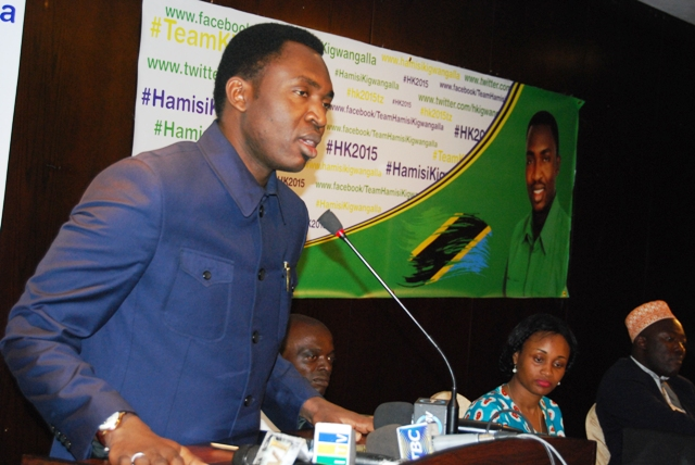 Dr.Hamisi Kigwangalla-Announces his intention to run for Tanzania's Presidency in 2015