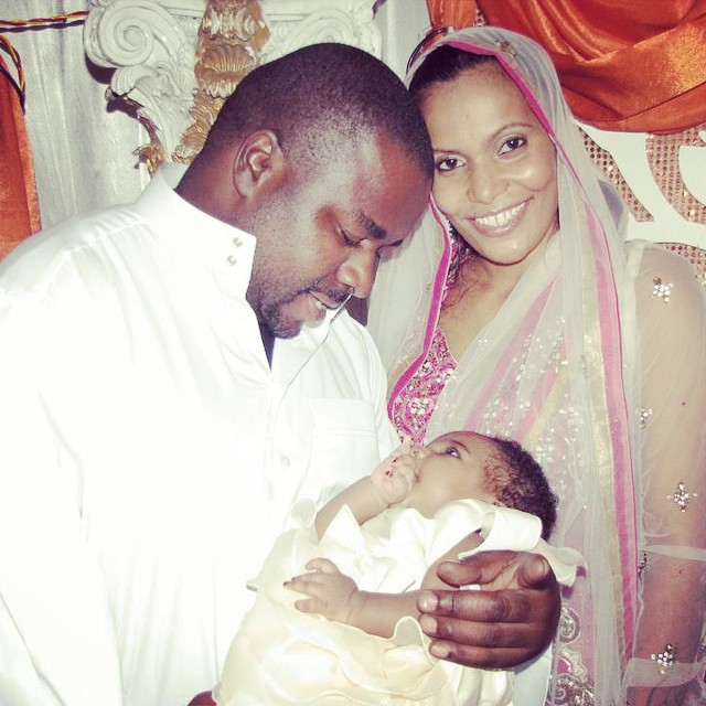 Joseph Mbilinyi [Sugu],Faiza Ally and their baby Sasha
