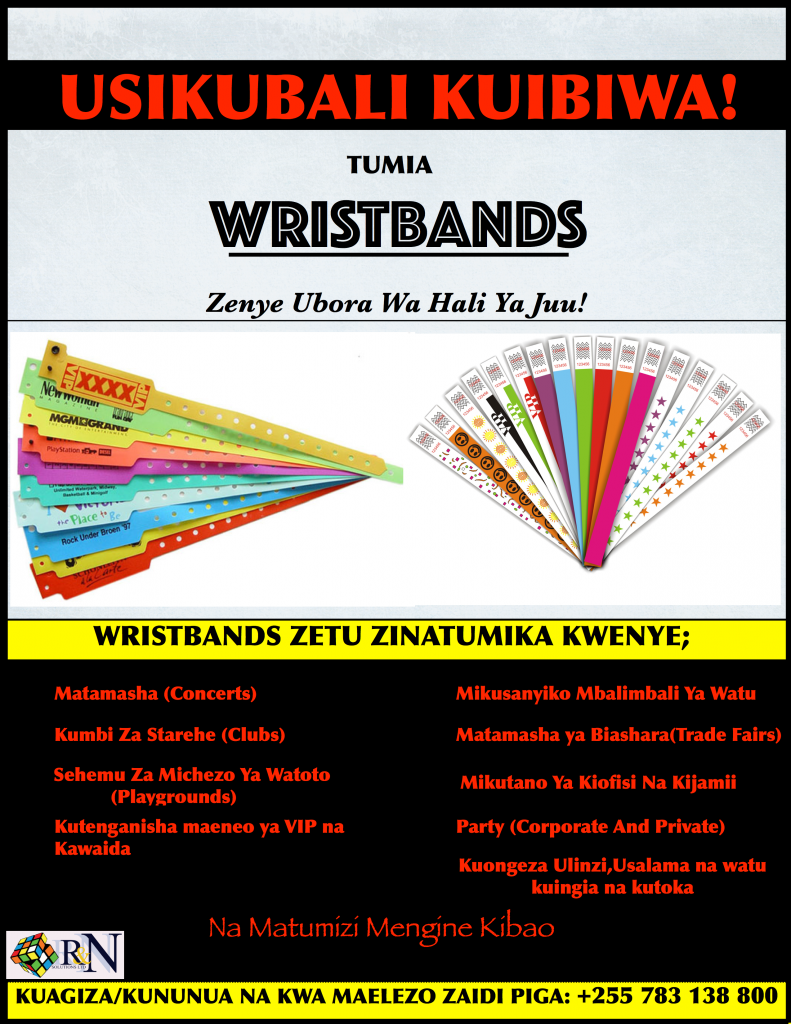 Wristbands in Tanzania,High Quality Wristbands