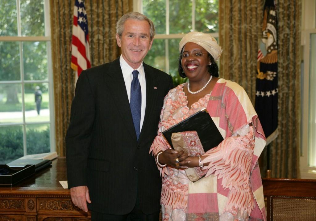 Ambassador Amina Salum Ali with former US President, George W.Bush
