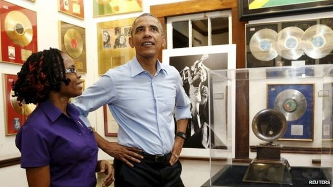 Obama Visits Bob Marley, Museum,Kingston,Jamaica