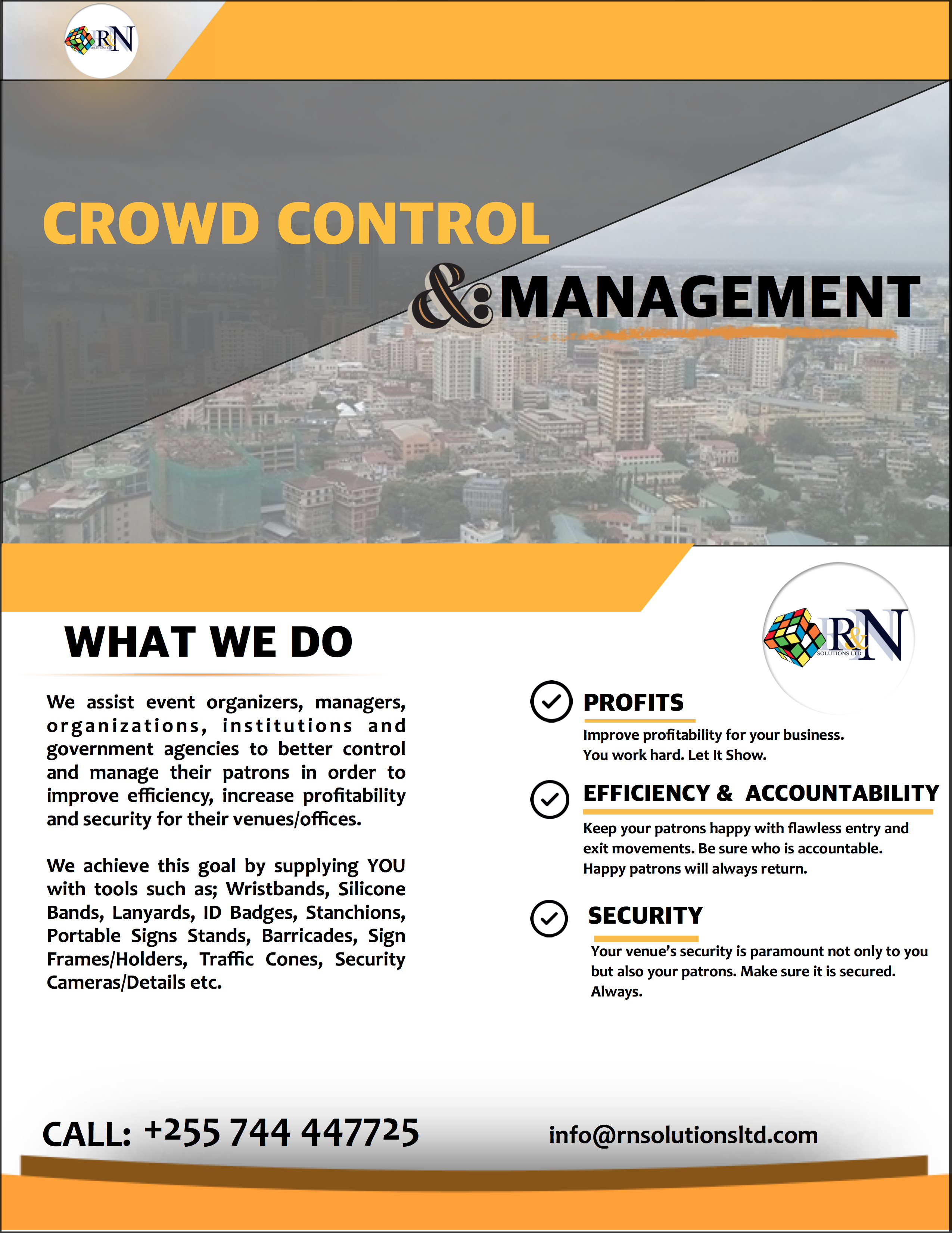 R&N Solutions LTD: For All Your Crowd Control & Management Needs