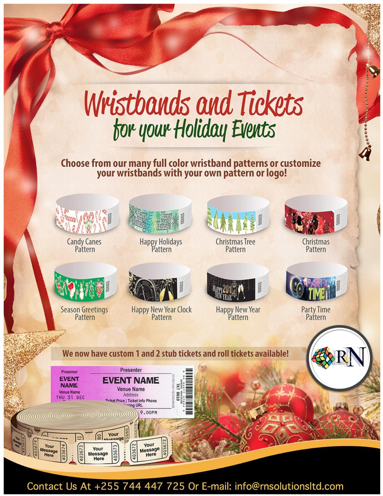 Exclusive Holidays Season Wristbands For Tanzania,Kenya,Uganda And Rwanda